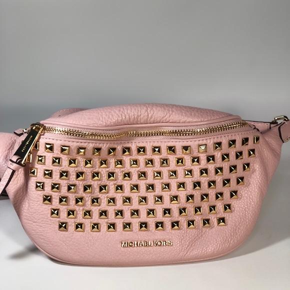 24c1a20b841a Michael Kors Bags | Rhea Leather Studded Belt Bag | Poshmark